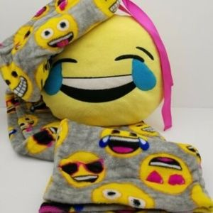 Emoji Pajama Pants & Emoji Pillow